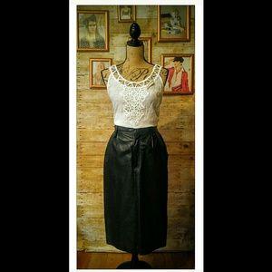 Genuine Leather Vintage Skirt